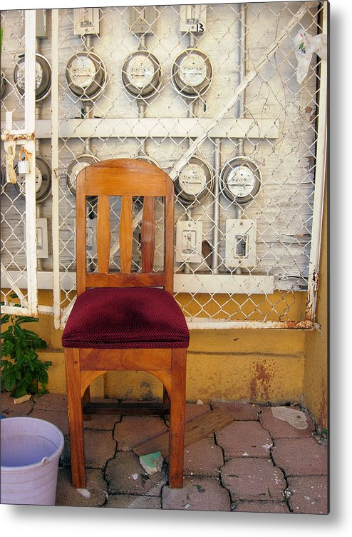 Mexico Metal Print featuring the photograph Electric Chair by Robert Boyette