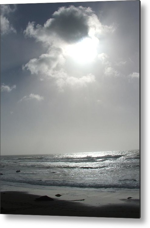 Black And White Metal Print featuring the photograph Enlightened by Shari Chavira