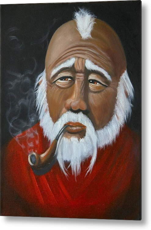 People Metal Print featuring the painting Face Of Asia by Joni McPherson