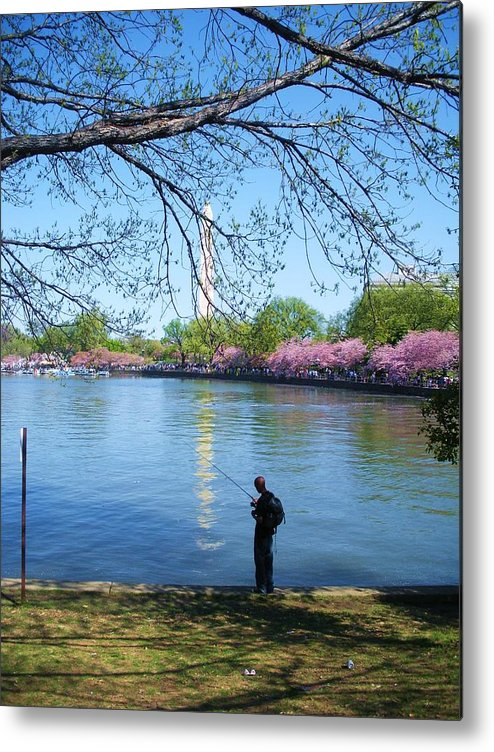 People Metal Print featuring the photograph Fisherman In Dc by Jeanette Oberholtzer