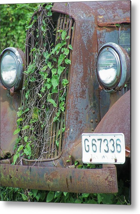 Ford Metal Print featuring the photograph Ford Grill by Gene Ritchhart