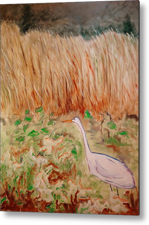 Landscape Metal Print featuring the painting Georgetta's Walk by Scott Plaster