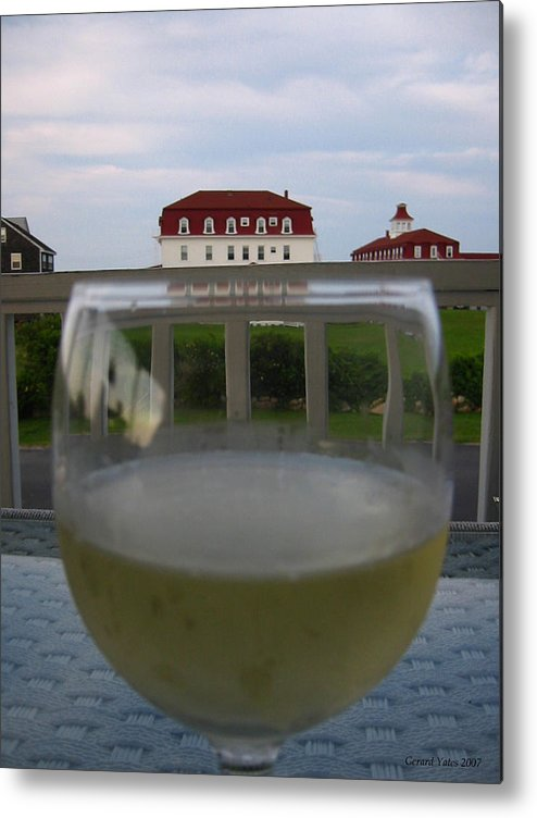 Block Island Metal Print featuring the photograph Glass Of Wine by Gerard Yates