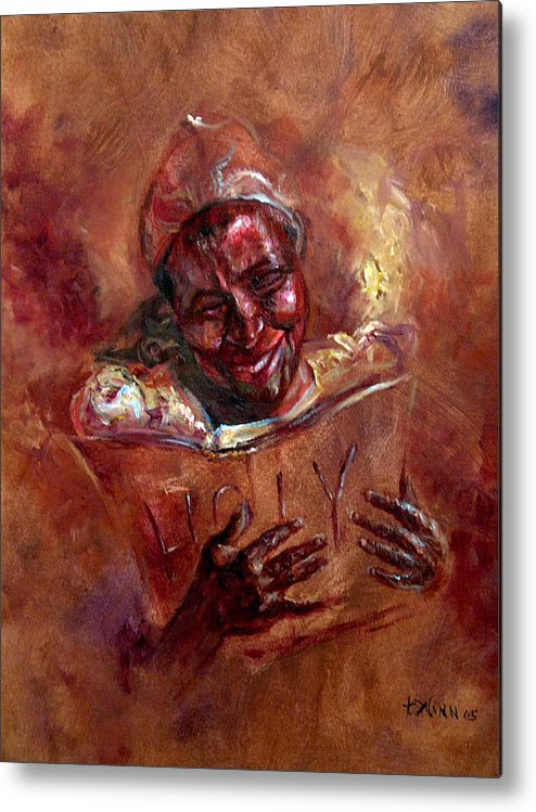 Women Metal Print featuring the painting His Word My Joy by Tommy Winn