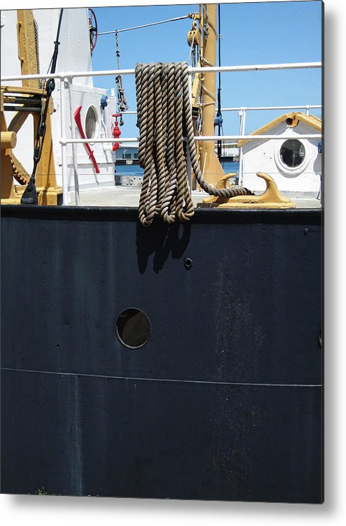 Rope Metal Print featuring the photograph Huron 9 by Mary Bedy