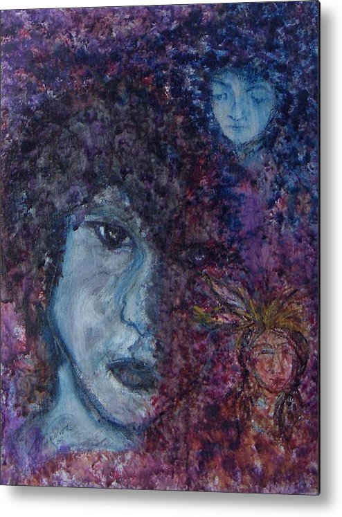 Jim Morrison Metal Print featuring the painting Indian Summer Dream by Cathy Minerva