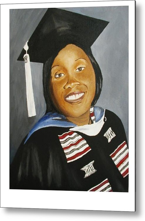 Portrait Metal Print featuring the painting Jessie by Angelo Thomas