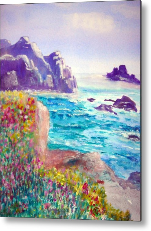 Joy Metal Print featuring the painting Just Feel. by Janpen Sherwood