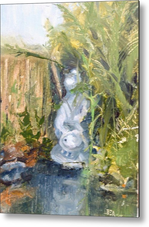 Still-life. Pond Koi Metal Print featuring the painting Koi Pond by Bryan Alexander