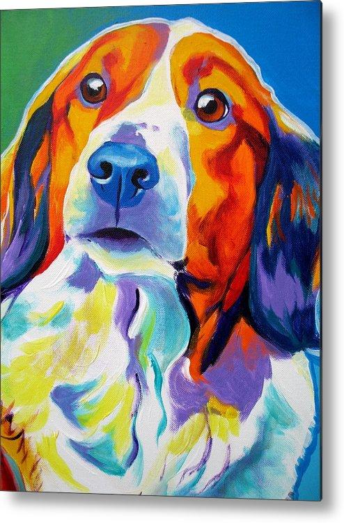 Dog Metal Print featuring the painting Kooiker - Dakota by Alicia VanNoy Call