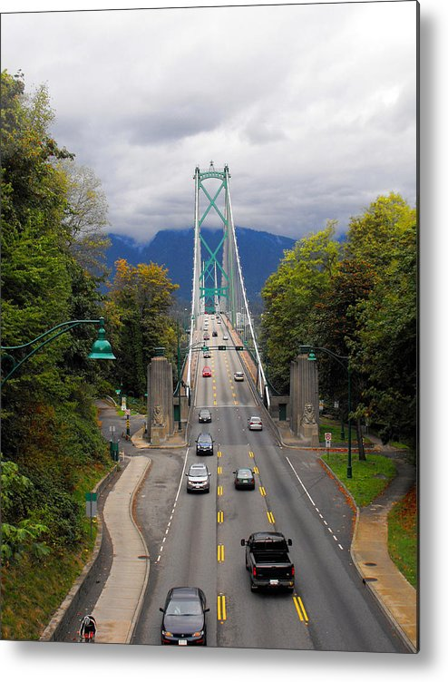 ruth Palmer Metal Print featuring the photograph Lion's Gate Bridge by Ruth Palmer