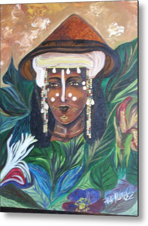 Metal Print featuring the painting Mariee by ALVAREZ Jacky
