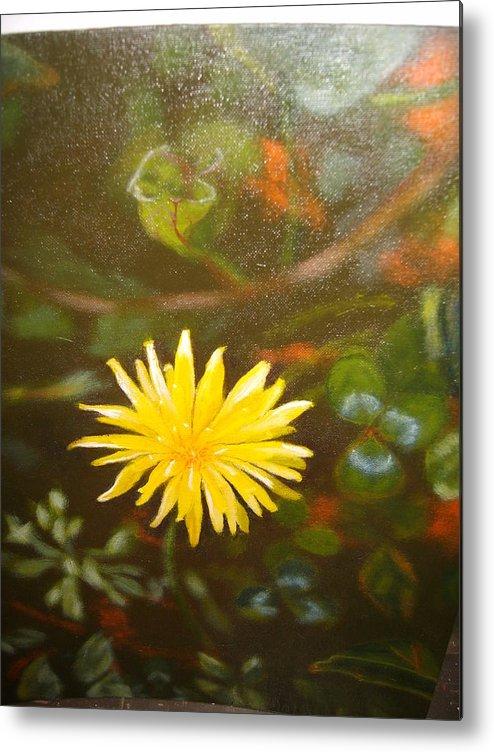 Flower Metal Print featuring the painting Mes Peak by Cavelle Ferguson