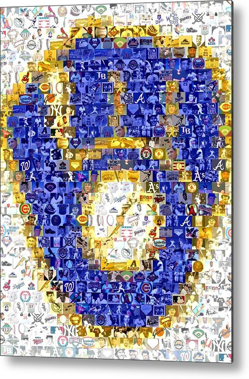 Milwaukee Brewers Metal Print featuring the drawing Milwaukee Brewers Mosaic by Paul Van Scott
