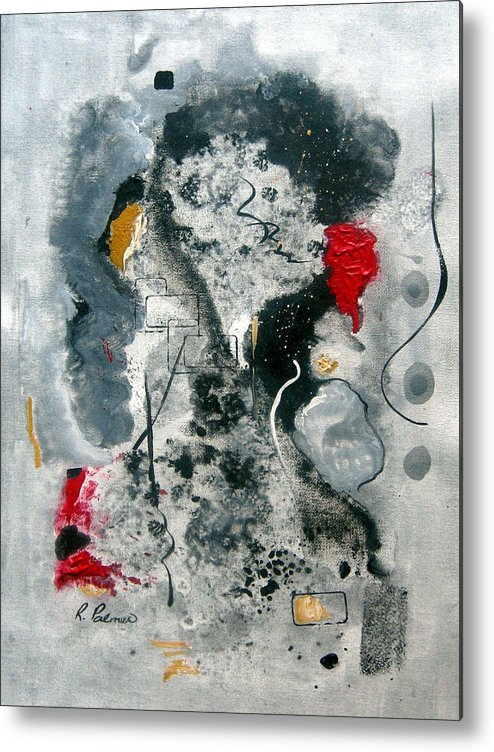 Abstract Metal Print featuring the painting Moods by Ruth Palmer