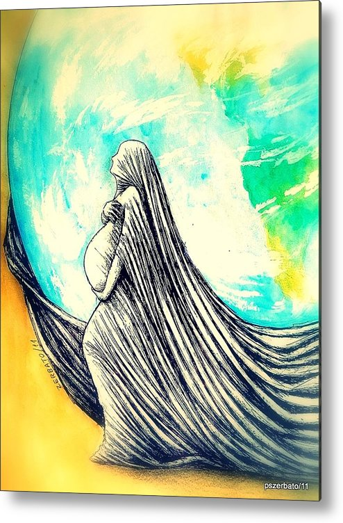 Mother Metal Print featuring the digital art Mother by Paulo Zerbato