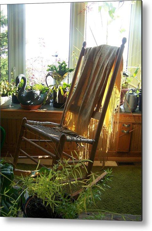 Rocking Chair Metal Print featuring the photograph Off My Rocker - Photograph by Jackie Mueller-Jones