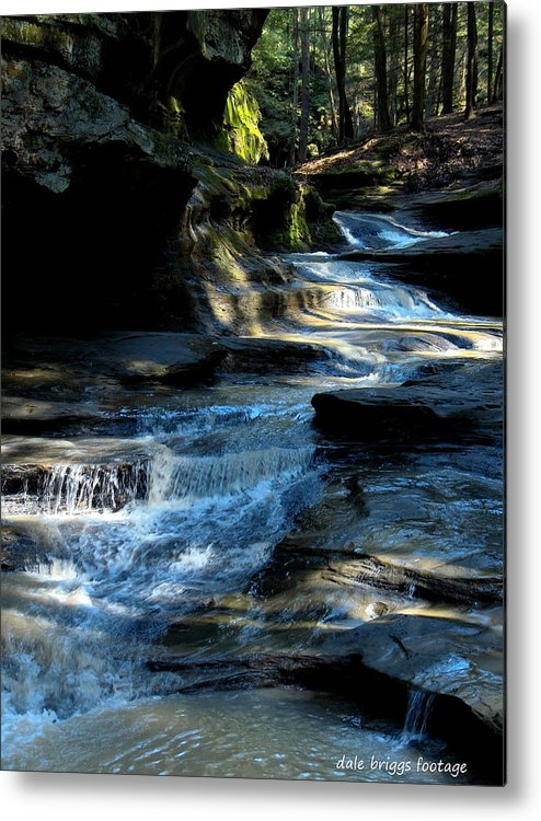 Landscapes. Water Falls Metal Print featuring the photograph Old Man's Cave Ohio 2012 by Dale Briggs