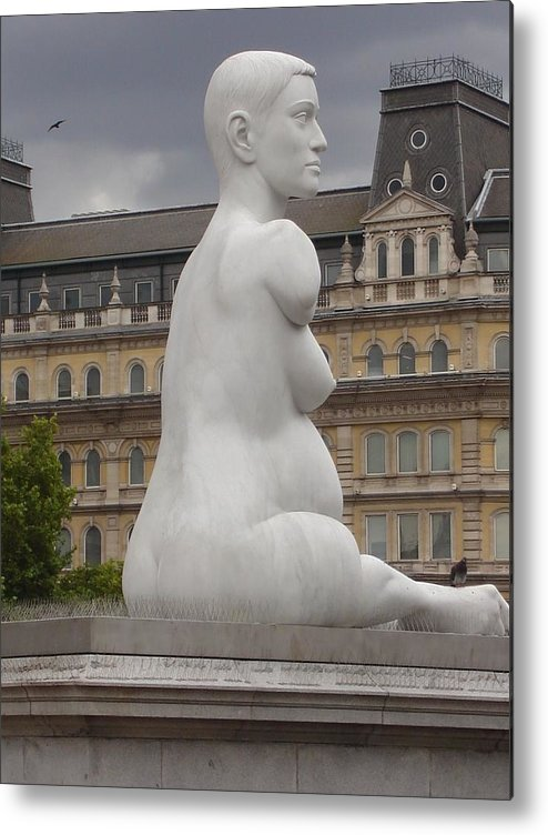 London Metal Print featuring the photograph Pregnant Woman by Kimberly Hill