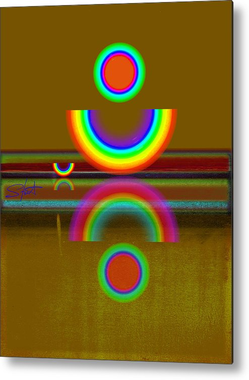 Reflections Metal Print featuring the painting Rainbow Warrior by Charles Stuart