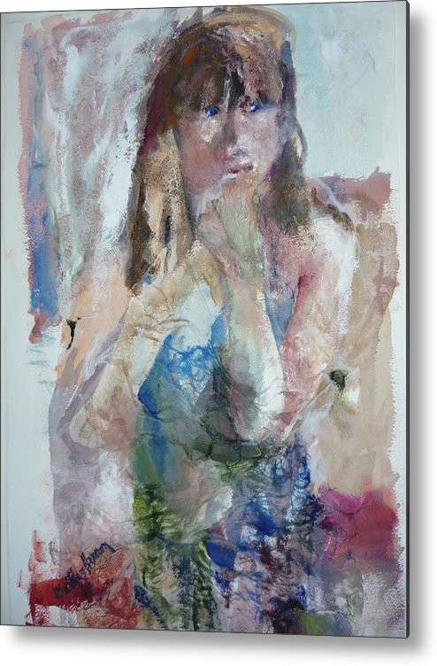 Portrait Metal Print featuring the painting Rebecca by Dorothy Herron
