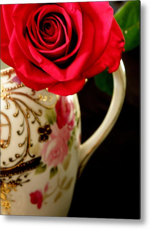 Rose Metal Print featuring the photograph Red Red Rose by Lainie Wrightson