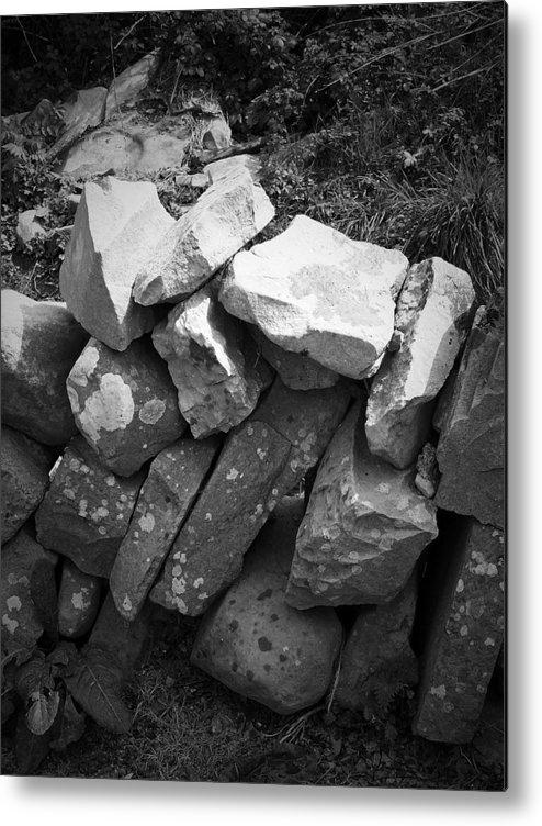 Irish Metal Print featuring the photograph Rock Wall Doolin Ireland by Teresa Mucha