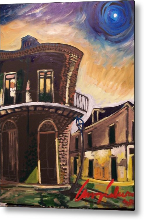 Cityscape Metal Print featuring the painting Royal St Sunrise by Amzie Adams