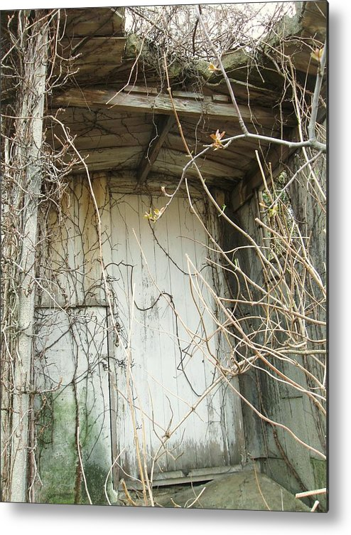 Old Farm Door Metal Print featuring the photograph Secret Door by Todd Sherlock