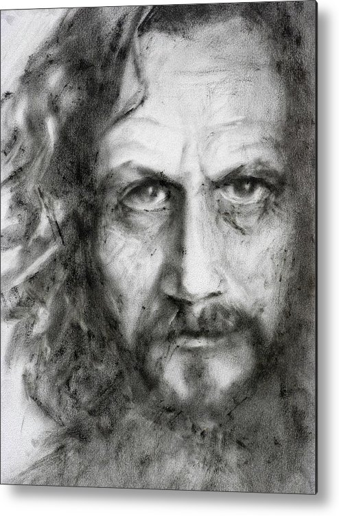 Portrait Metal Print featuring the painting Sirius Black by Kira Jensikbayeva