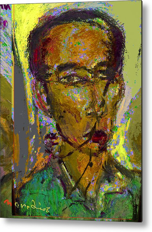 Selfprtrait Metal Print featuring the painting Sp 071308 by Noredin Morgan