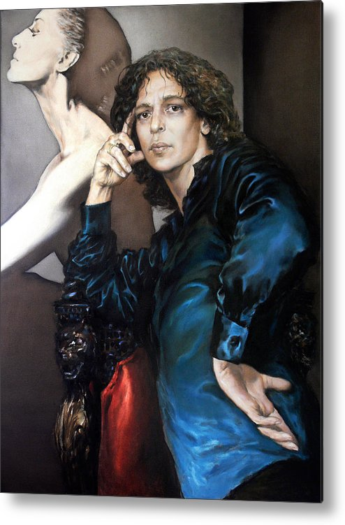 Eye Metal Print featuring the painting S.portrait by Valeriy Mavlo