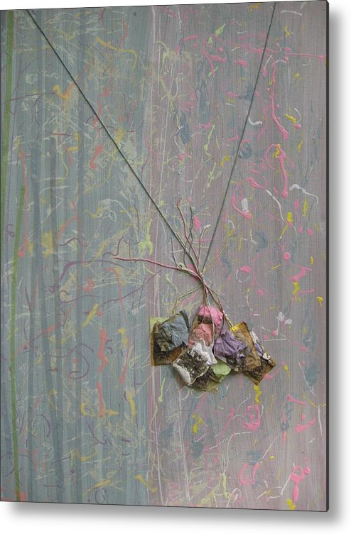 Pastel Metal Print featuring the mixed media Surfaces by Gail Hinchen