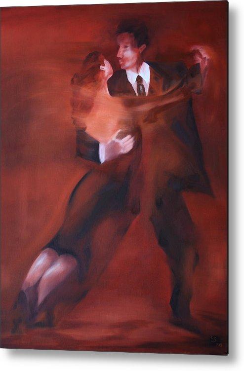 Tango Metal Print featuring the painting Tango No.1 by Harri Spietz