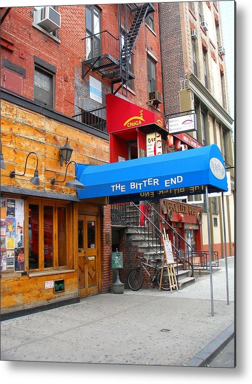 Bitter End Metal Print featuring the photograph The Bitter End New York-greenwich Village by Candace Garcia