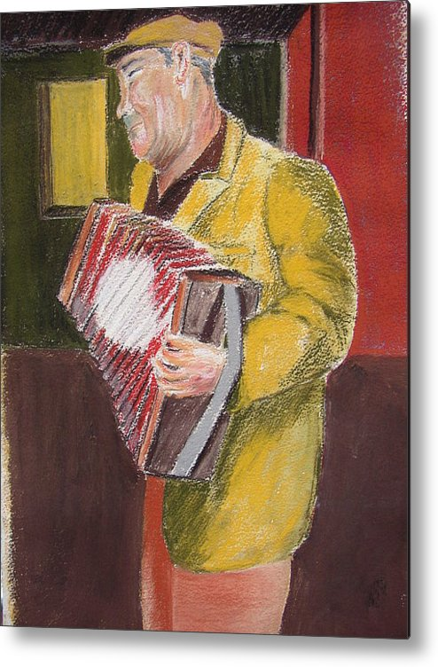 Figure Metal Print featuring the painting The Entertainer by Joe Lanni