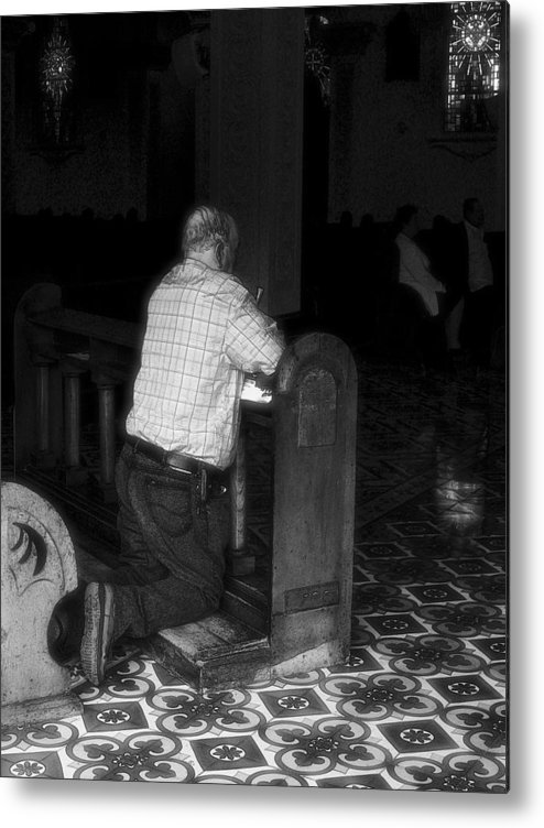 Church Metal Print featuring the photograph The Prayer by Robert Boyette