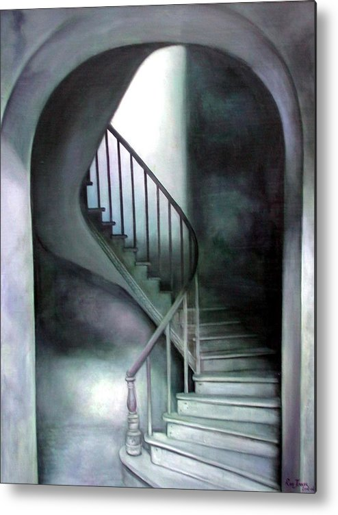 Realism Metal Print featuring the painting The Upper Room by Riek Jonker