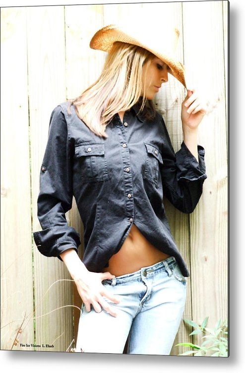 Cowgirl Metal Print featuring the photograph The Western Look by Linda Ebarb