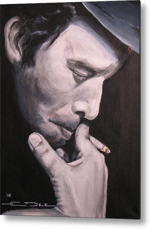 Tom Waits Metal Print featuring the painting Tom Waits Two by Eric Dee