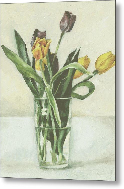 Tulips Metal Print featuring the painting Tulips by Sarah Madsen