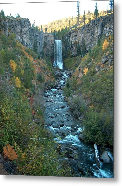 Waterfall Metal Print featuring the photograph Tumalo Falls by Janet Hall