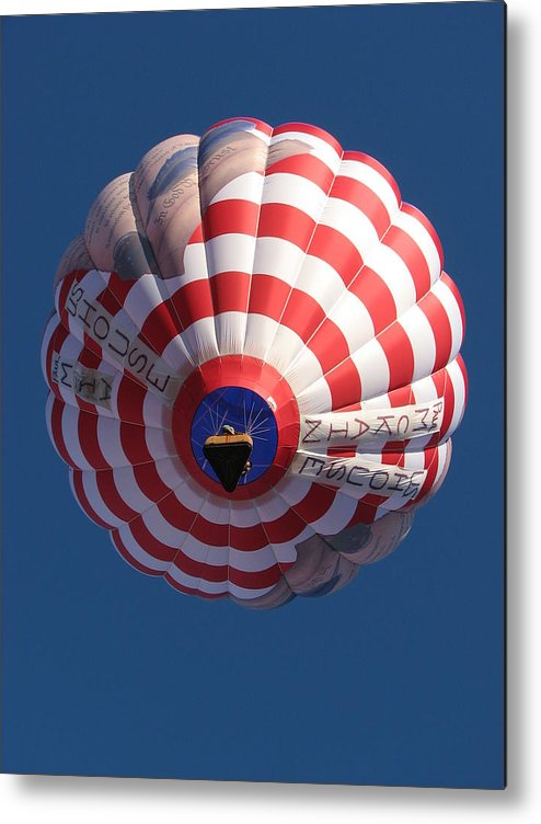 Balloon Metal Print featuring the photograph Up In The Air by April Camenisch