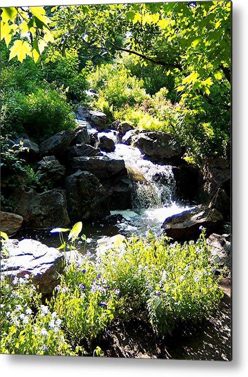 Waterfall Metal Print featuring the photograph Waterfall by Caroline Urbania Naeem