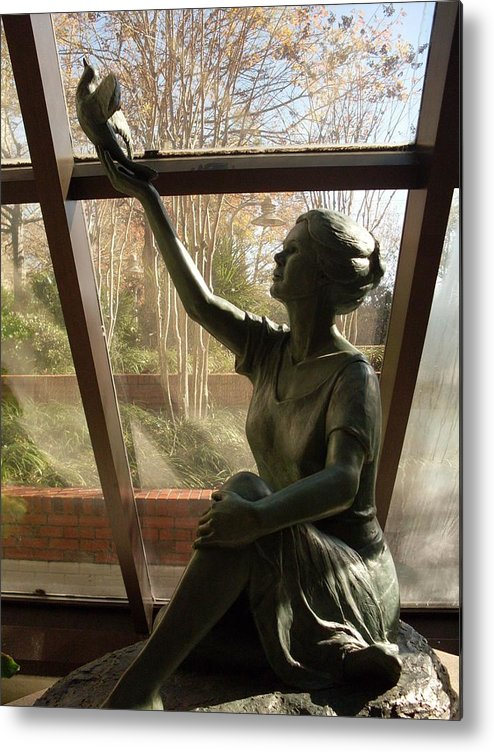 Sculpture Metal Print featuring the photograph Wings Of Hope by Warren Thompson
