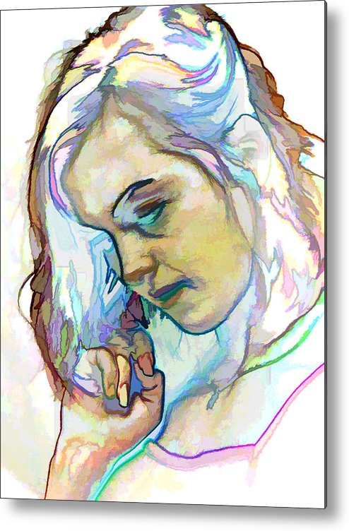 Photography Metal Print featuring the photograph Women Body - Color Face2 by Robert Litewka