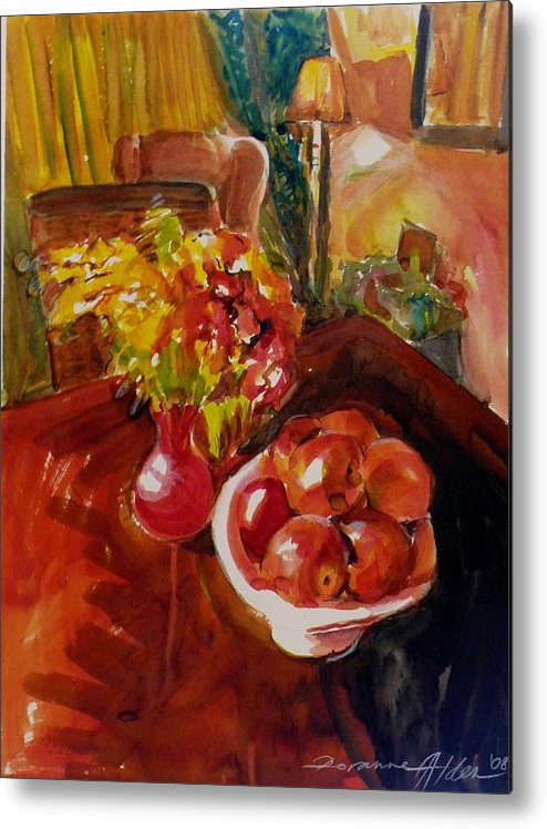 Interior Metal Print featuring the painting Women's Day Bouquet by Doranne Alden
