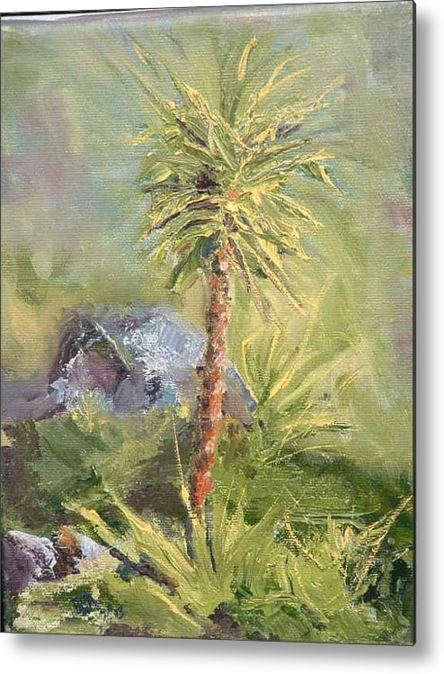 Yucca Metal Print featuring the painting Yucca by Bryan Alexander