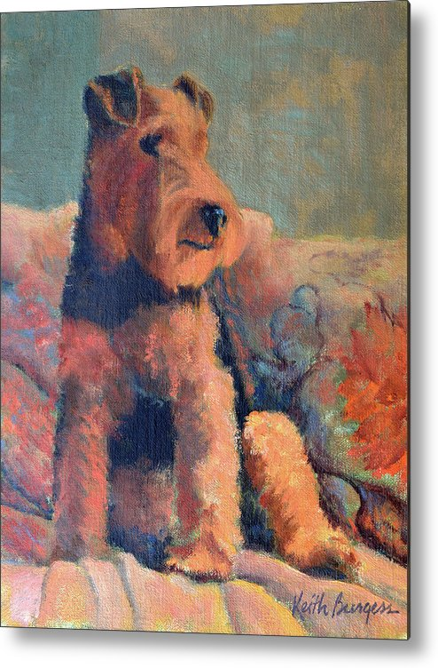 Pet Metal Print featuring the painting Zuzu by Keith Burgess