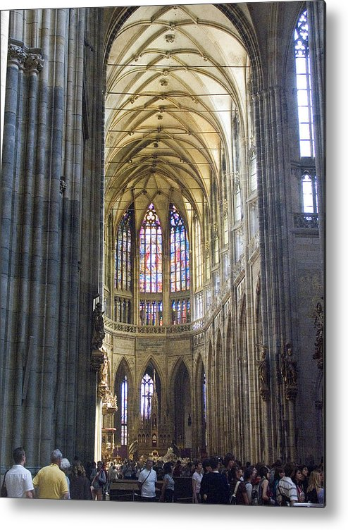 St. Vitus Metal Print featuring the photograph St Vitus Cathedral by Charles Ridgway